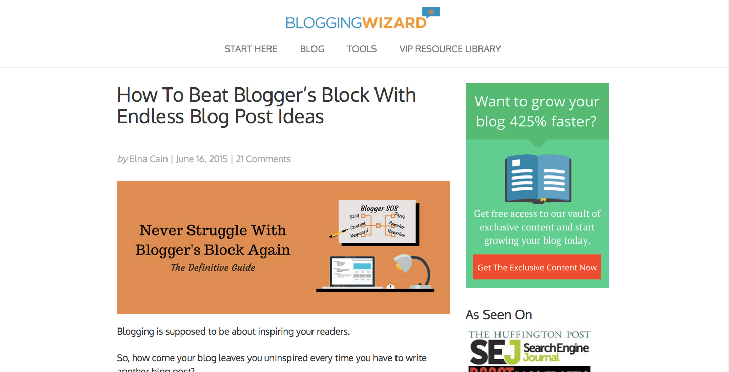 How To Beat Blogger's Block With Endless Blog Post Ideas