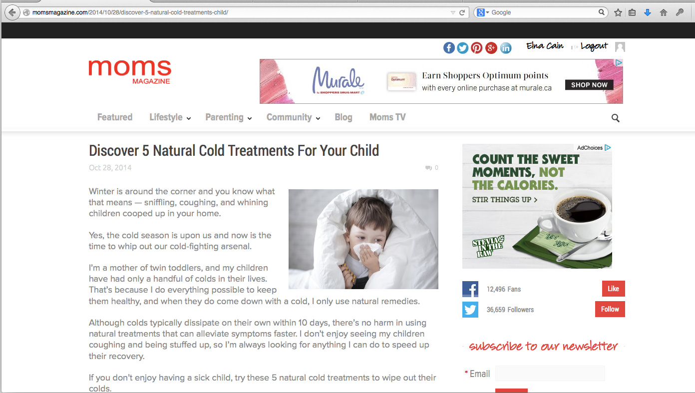 Discover 5 Natural Cold Treatments For Your Child