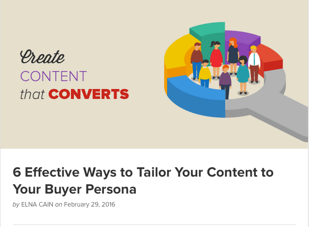 6 Effective Ways to Tailor Your Content to Your Buyer Persona