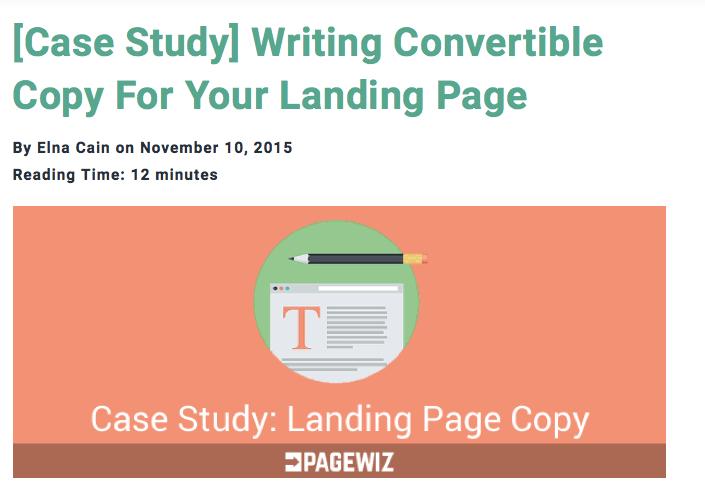 Customizing Landing Page Copy: A Case Study