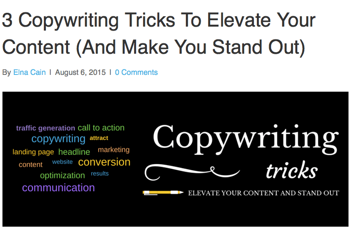 3 Copywriting Tricks To Elevate Your Content (And Make You Stand Out)