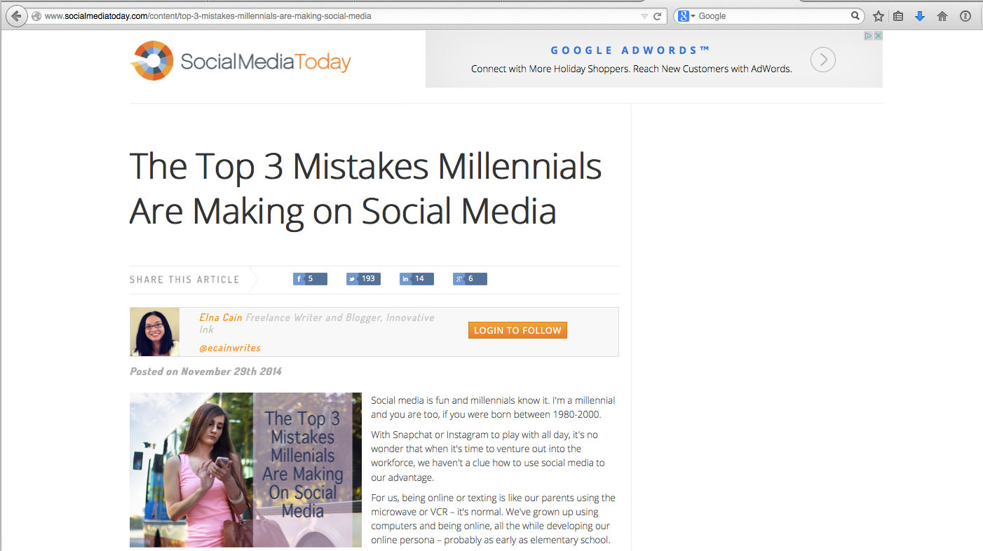 The Top 3 Mistakes Millennials Are Making on Social Media