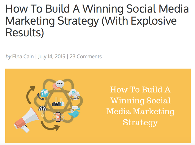 How To Build A Winning Social Media Marketing Strategy (With Explosive Results)