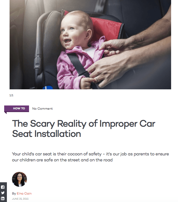 The Scary Reality of Improper Car Seat Installation