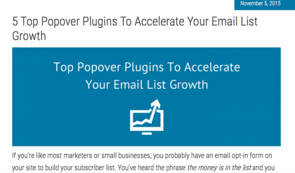 5 Top Popover Plugins To Accelerate Your Email List Growth