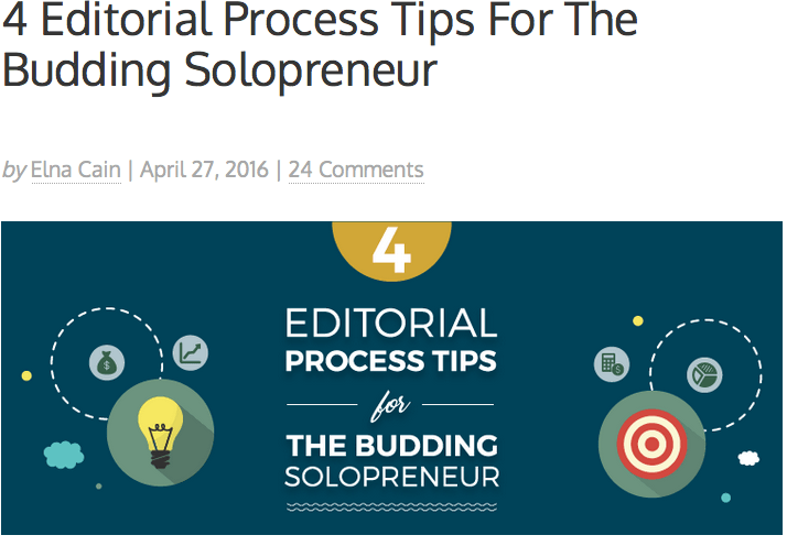 4 Editorial Process Tips For The Budding Solopreneur
