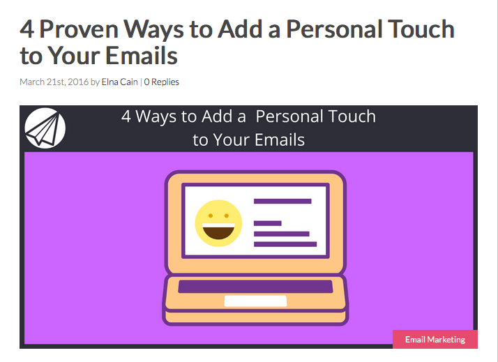 4 Proven Ways to Add a Personal Touch to Your Emails