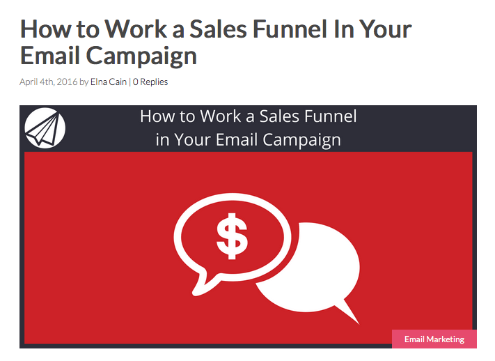 How to Work a Sales Funnel In Your Email Campaign