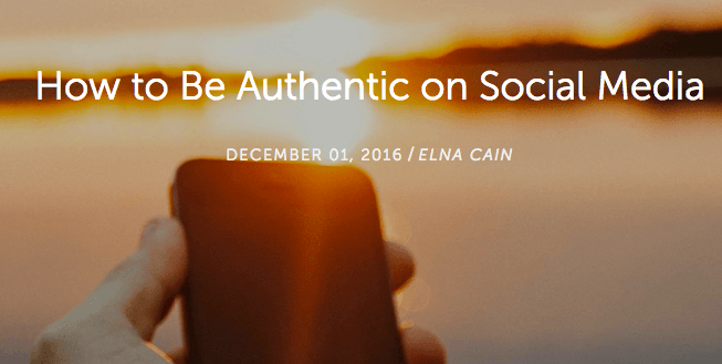 How to Be Authentic on Social Media
