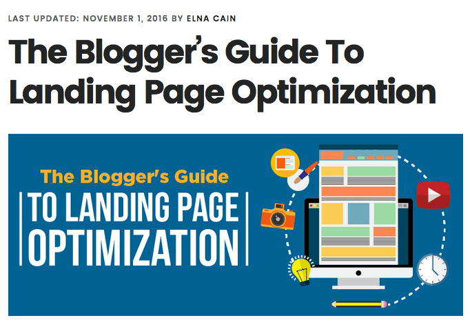 The Blogger's Guide To Landing Page Optimization