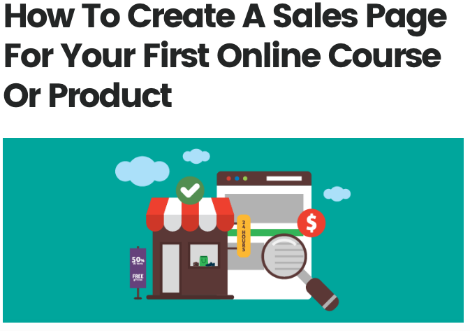 How to Create a Sales Page for Your First Online Course or Product